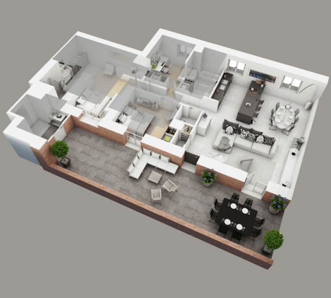 3d Floor Plan And Architectural Visualization Elogictech